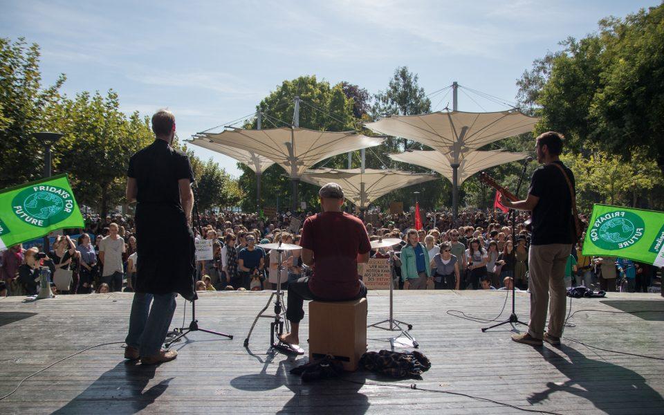 Die Fridays-For-Futuer-Konstanz-Band beiKundgebung am 20.09.2019 im Stattgarten